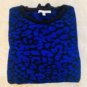 Rebecca Minkoff Sweaters - EUC Rebecca Minkoff Blue & Black Leopard Sweater